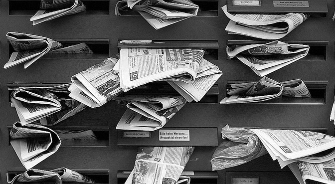 newspapers in mailslots
